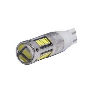 Image 3 - 2Pcs H3 H1 W5W T10 화이트 4014 칩 30 SMD 높은 전원 LED 안개 빛 헤드 라이트 램프 전구 렌즈 DC 12V