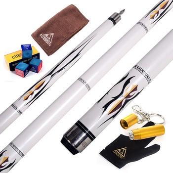 CUESOUL 58 Maple Billiard Pool Cue Sticks-19OZ With Clean Towel,Billiard Chalk,11.5mm Cue,12.75mm for Choose