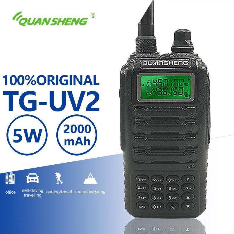 Quansheng TG-UV2 High Quality Powerful 5W Walkie Talkie VHF UHF Dual Band Ham Radio TG UV2 FCC CE Amateur Radio Comunicador 10KM