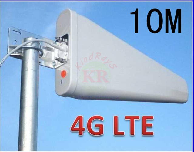 100% 11dbi 10 m sma 3g 4G antenne 800-960 / 1710-2500 Mhz 4g 3g outdoor LDP panel antenne WCDMA 4g booster voor huawei 4g antenne
