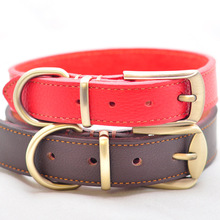 Leather Dog Collar With Large Buckle