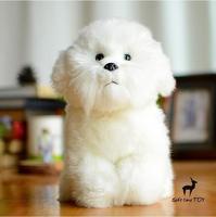 Cute Dog Dolls Real Life Plush Animals Toys Children Bichon Frise Doll Soft Toy Present Women