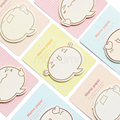 Planejador Kawaii Totoro Adesivos Sticky Notes Bonito Coreano Stationery Office Supplies Scrapbooking Postá-lo Memorando Almofada Pegajosa Marcadores