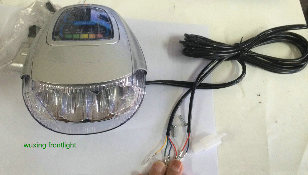 wuxing frontlight electric bike scooter headlight with horn and rh aliexpress com LED Headlight Controller Wiring Ironton LED Lights Wiring-Diagram