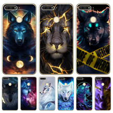 Luxury Starry animal lion wolf For huawei Y5 II Y6 Prime Nova 2 3 3I Plus 2018 2017 phone case Cover pattern Coque Etui