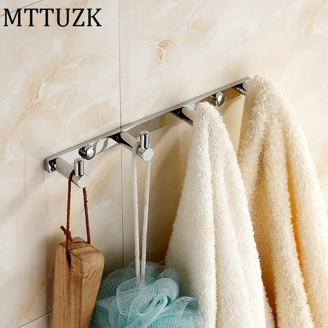 Mttuzk Messing Chroom Kleding Haken Keuken Haken Eenvoudige Rij