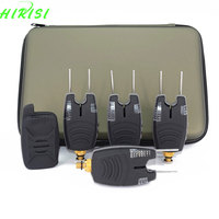 Waterproof Carp Fishing Bite Alarm Set With Snag Ear Bar Wireless Fishing Alarm 1 4 Set