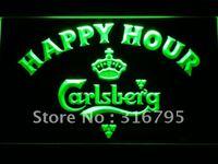 602 Carlsberg Happy Hour Beer Bar do Sinal de Néon CONDUZIDO com On/Off Switch 20 + Cores 5 Tamanhos para escolher