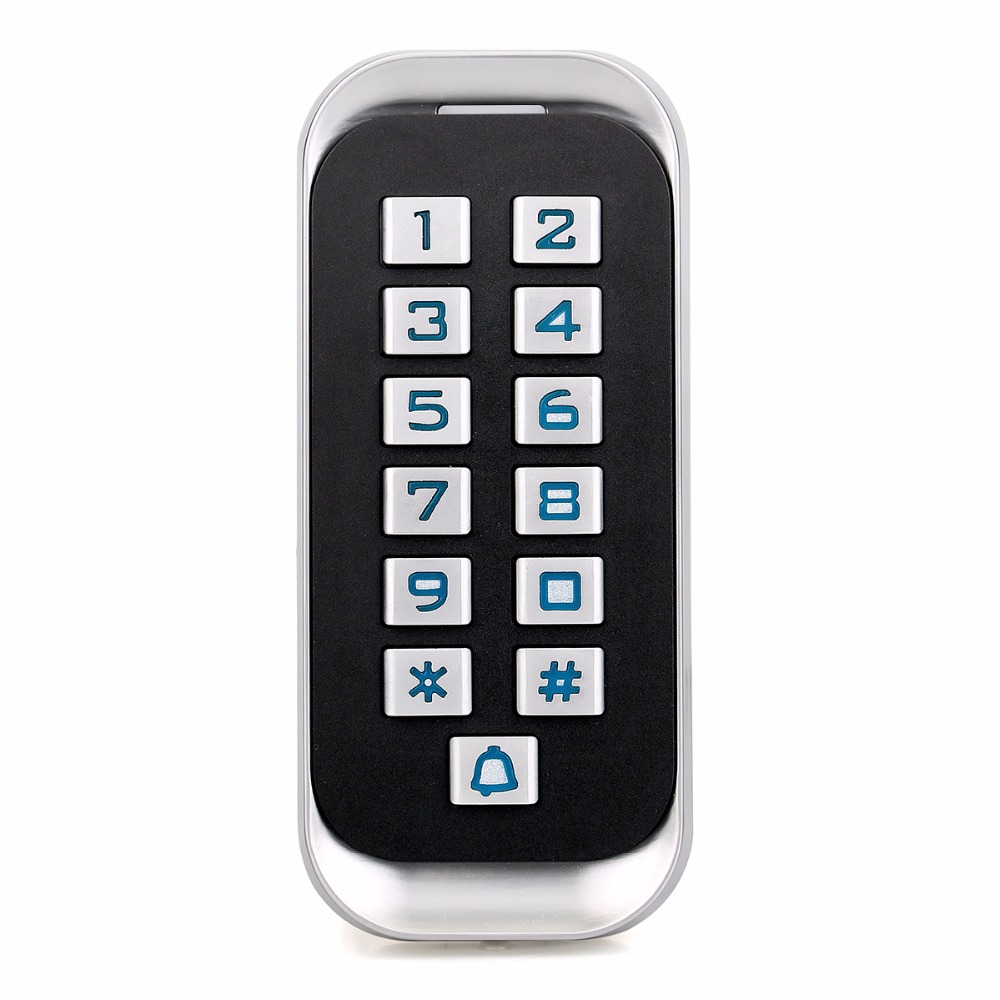 IP68 RFID Metal ID Keypad Door Access Control Single Door Standalone Access Control Wiegand 26 bit I/O With 2000 User F1418D