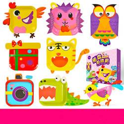 Ручная работа DIY картонная бумажная пластина наклейка s Дети мультфильм животное искусство Araft наклейка обучающие игрушки для детей