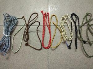 Image 5 - Câbles électriques couverts en tissu de cuivre Style Vintage Edison, cordon de poignée avec poignée torsadé, 5 m/lot