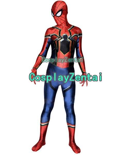 Iron Spider suit Spiderman Homecoming Cosplay Halloween Costume 3D Spiderman Zentai Suit