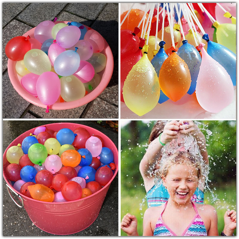 111pcs/lot Novelty Gag Toys Funny Toy Magic Balloon Water Balloons Bunch Bombs Filling Water Balloons Bunch Summer Outdoor Toys 3 beam of balloons colorful magic water balloons outdoor recreation and water play toys
