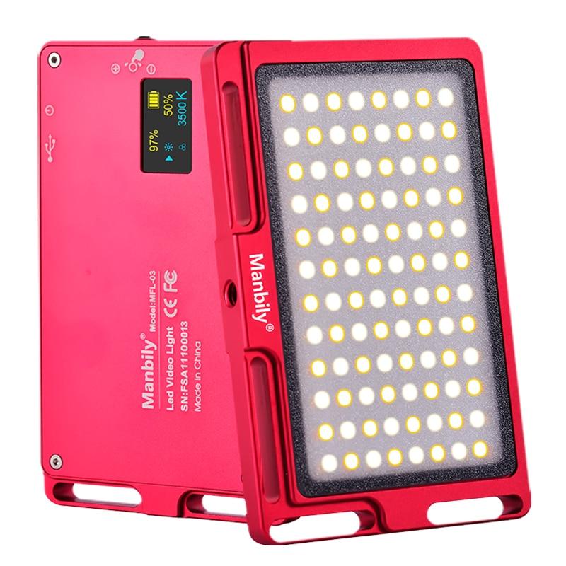 Manbily MFL-03 Mini LED Video Camera Light Dimmable 96 LED Photographic Lighting Lamp for Camera IPhone XR XS Max 8 7 6 Plus Manbily MFL-03 Mini LED Video Camera Light Dimmable 96 LED Photographic Lighting Lamp for Camera IPhone XR XS Max 8 7 6 Plus