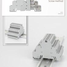 Rail-Terminal-Block Triple-Wire-Connector Din DIKD-1.5 10pcs Three-Layer 3-Level-Sensor
