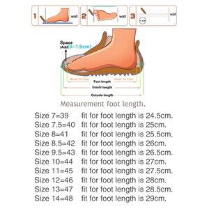 Image 5 - OZERSK الرجال أحذية رياضية الصيف حذاء كاجوال تنفس الرجال شبكة خارجية أحذية الرجال الدانتيل يصل أحذية خفيفة البحرية السوداء حجم كبير 39 48