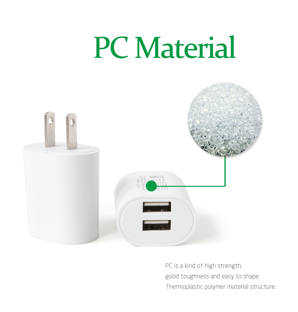 1PC US Adapter 5V2.1A Dual USB Charger For Smart Mobile Phone Charging ACDC Adaptor Travel in Japan Thailand Canada Mexico (8)