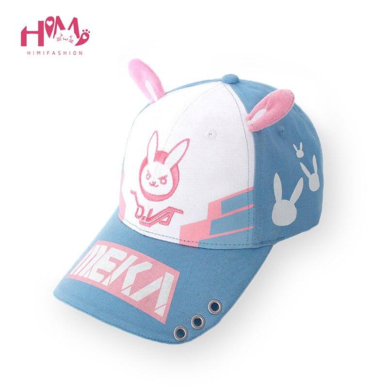 DVA Rabbit Ear Cute Baseball Cap Women Cartoon Printed Lady Hat Japanese Comic Hot Sale D