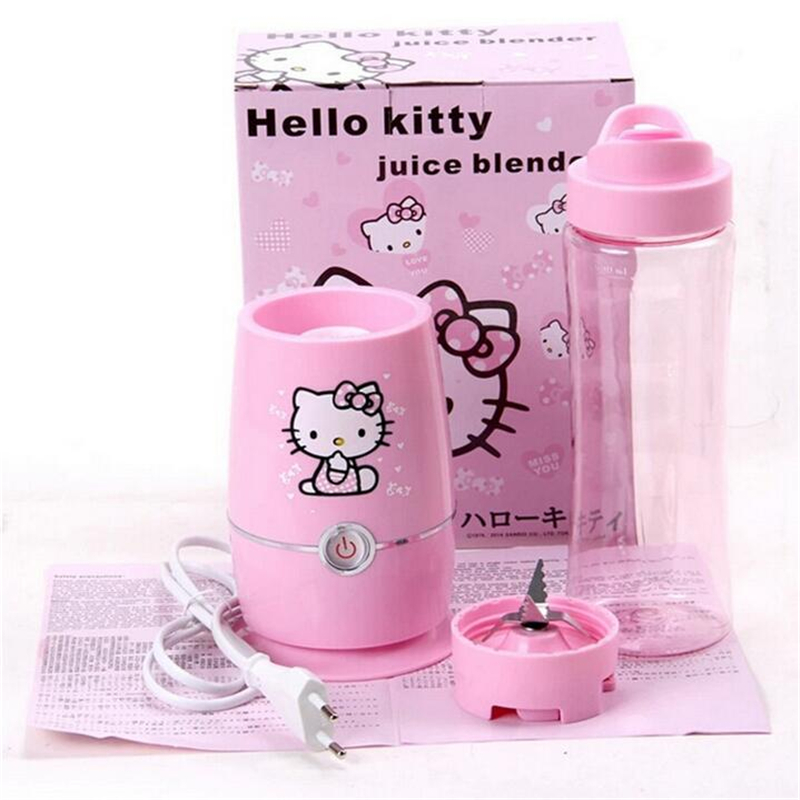 220V Mini Hello Kitty Multifunctional Electric Fruit Juicer Fruit Vegetable Extractor Mixer Squeezer Blender household electric juicer fruit juice maker machine automatic vegetable low speed extractor mixer