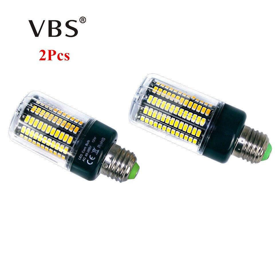 2Pcs 5736 SMD More Bright 5730 5733 LED Corn Lamp Bulb light 3.5W 5W 7W 9W 12W 15W E27 E14 85V-265V No Flicker Constant Current