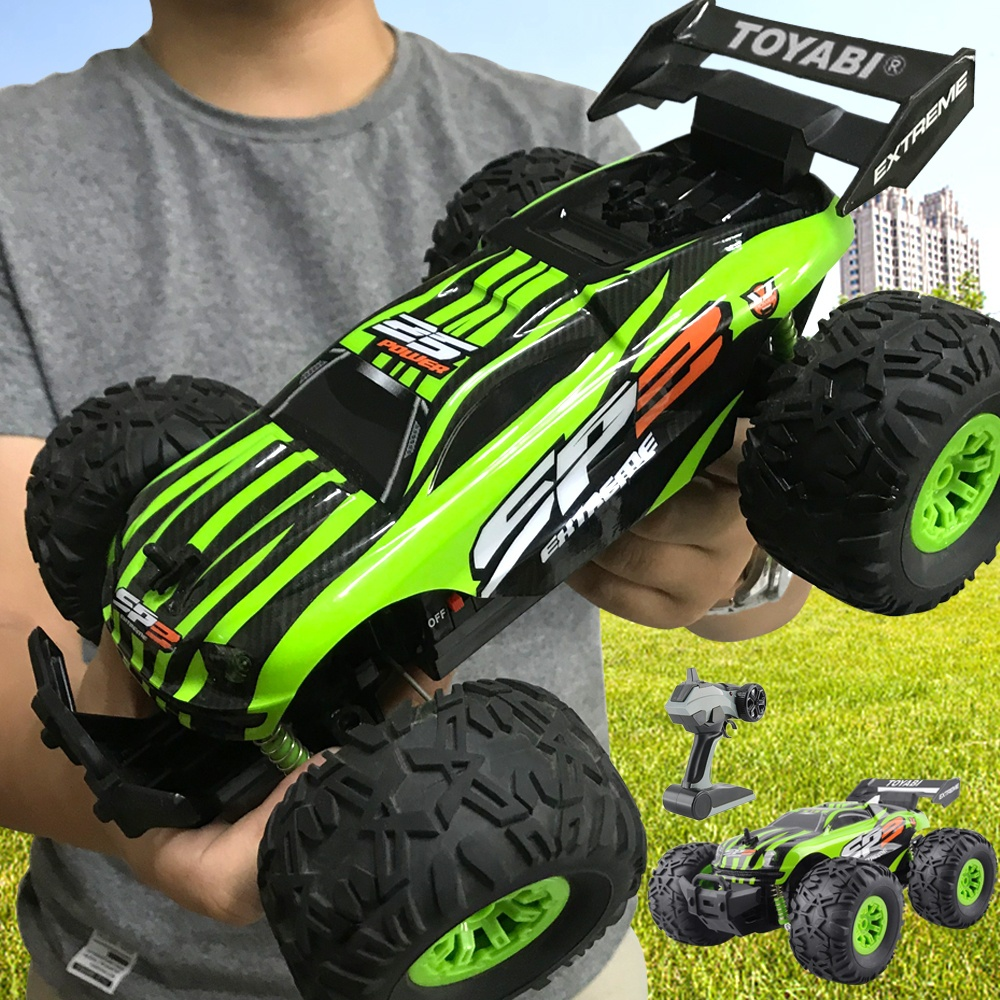 GizmoVine RC coche 2,4g 1/18 Monster Truck Control remoto controlador de juguetes modelo de vehículo todoterreno camión de juguete 15 km/h para niños