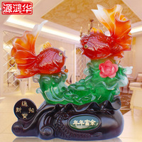 2016 Jade Crafts Annual Surplus Fish Ornaments Home Furnishing Resin Decoration Luxury Living Room Opening Housewarming Gift