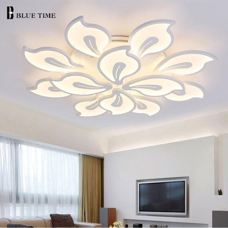 Image 4 - White&Black Finished Modern Led Ceiling Light For Living room Bedroom Dining room Lustres Acrylic Led Ceiling Lamp Light Fixture-in Ceiling Lights from Lights & Lighting