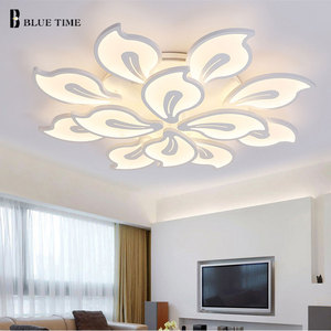 Image 4 - White&Black Finished Modern Led Ceiling Light For Living room Bedroom Dining room Lustres Acrylic Led Ceiling Lamp Light Fixture