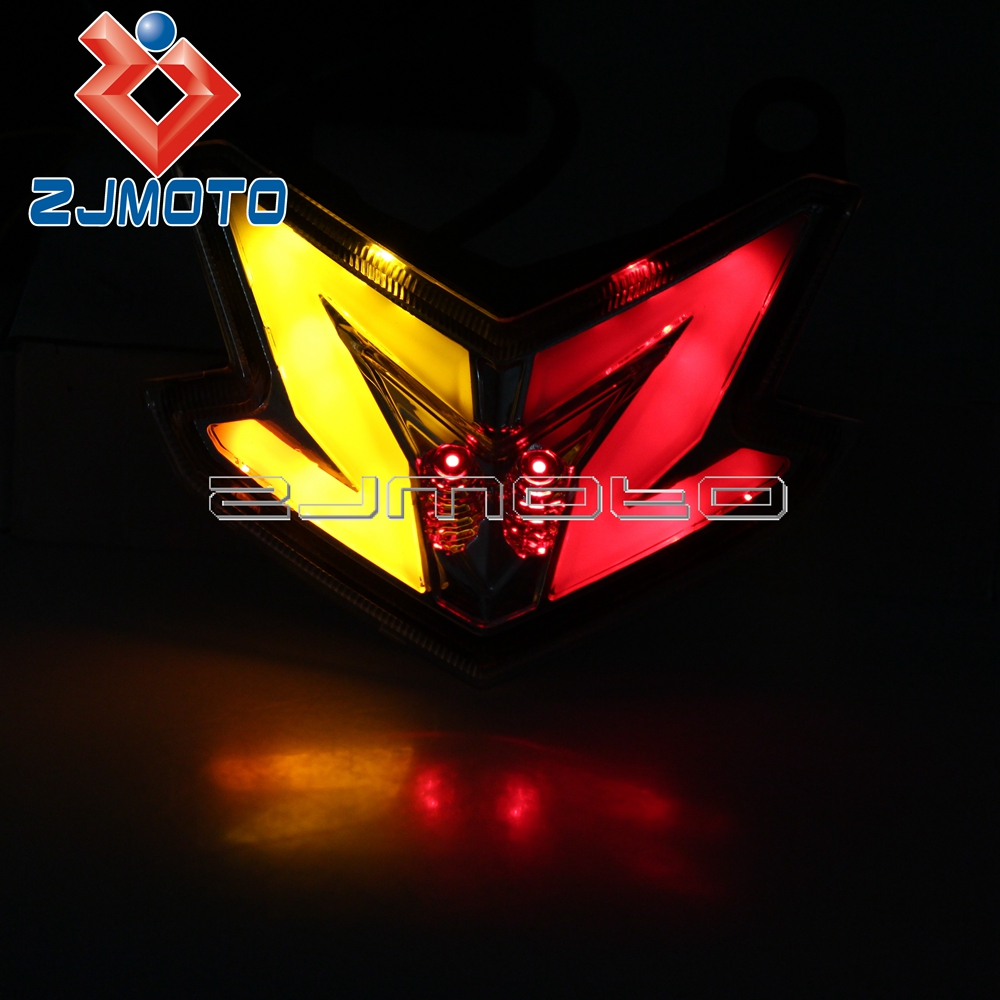 Motorcycle Z800 Brake Light Turn Signal Blinker Taillight For Kawasaki Ninja ZX6R 636 13-14 Streetfighter Integrated Tail LightMotorcycle Z800 Brake Light Turn Signal Blinker Taillight For Kawasaki Ninja ZX6R 636 13-14 Streetfighter Integrated Tail Light