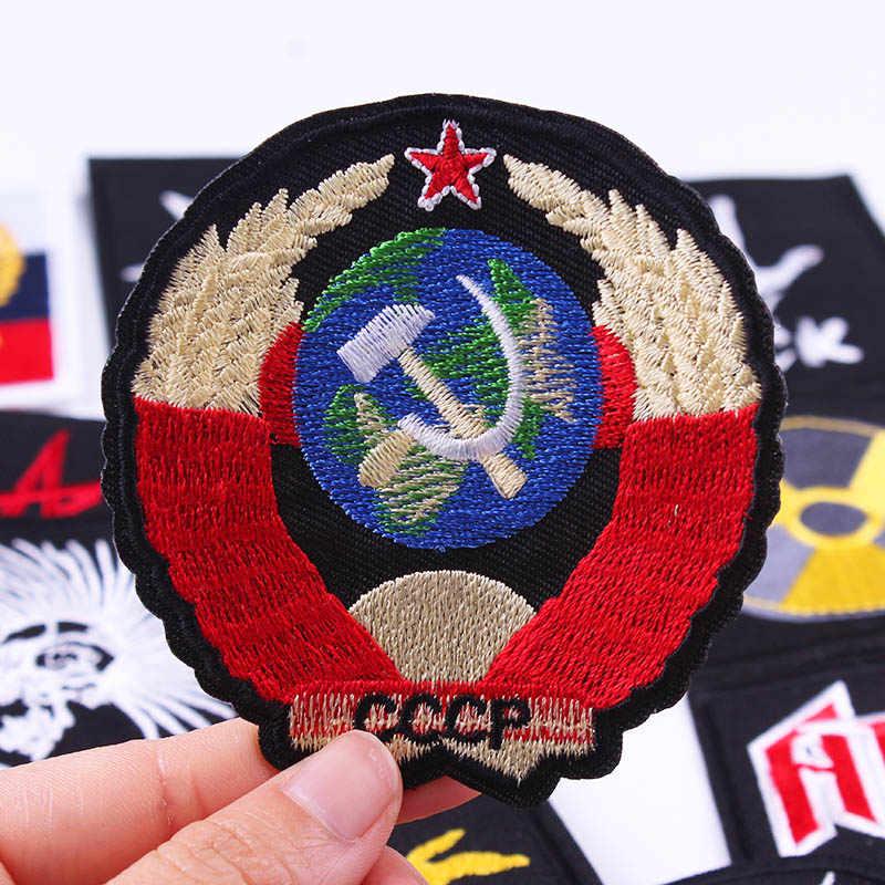 Prajna рок значок наклейки Полоса вышитые железные на патчи для одежды Хиппи Патч круглый знак крючок ручной работы патчи с петлей Декор F