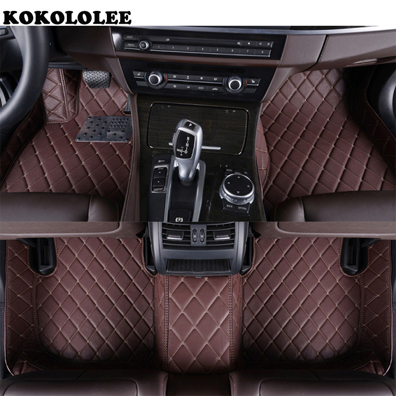 цена на kokololee Car floor mats for BMW F10 F11 F15 F16 F20 F25 F30 F34 E60 E70 E90 1 3 4 5 7 Series GT X1 X3 X4 X5 X6 Z4 car-styling