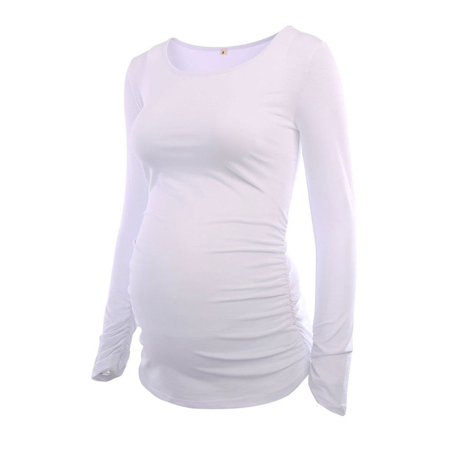 Halloween Women Maternity Clothes Long Sleeves Blouses Tops Side Ruched Pregnancy Clothing Blouse Maternity Top Womens Clothing 3