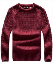 Male sweater o-neck slim thickening pullover knitted sweater men's clothing outerwear plus size available