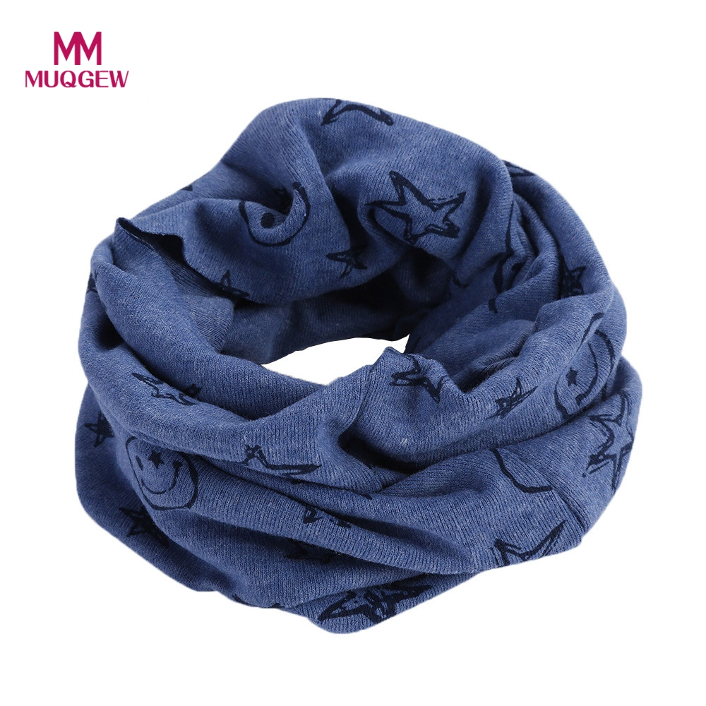 Autumn Winter Children Scarf Baby Bibs Baby Girl Boy Scarves Cotton O Ring Lovely Kids Collars Child Ring Scarf Baby Burp Cloths