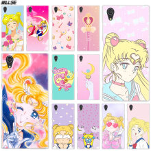 Mllse Anime Sailor Moon Fashion Case PENUTUP UNTUK SONY Xperia M4Aqua M5 E5 X XA XA1 XA2 Plus XA3 XZ XZ1 XZ2 Kompak Z5 L1 L2 L3 Panas(China)
