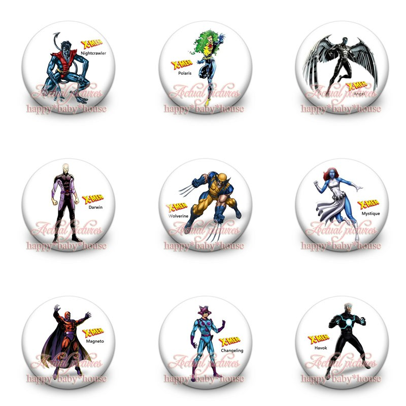 Bag Parts & Accessories Logical Wholesale 90pcs X-men Cartoon Buttons Pins Badges Novelty Round Badges,30mm Diameter,accessories For Clothing/bags,party Gifts