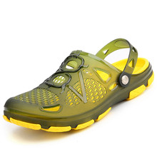 YeddaMavis Men Shoes 2019 New Summer Jelly Shoes Men Beach Sandals Slippers Men Flip Flops Light Sandalias Male Sandals Flats цены онлайн