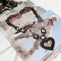 Colar Collier 2016 Oferta de Moda Mujeres Corazón Collares Collar de la Capa 2105 Nuevo Diseño Y Colgante en forma de Corazón de Acrílico Largos