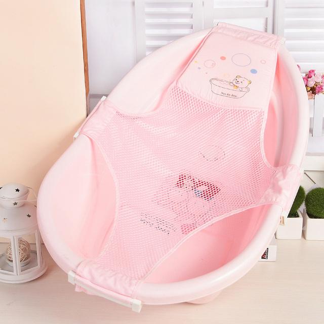 Banho do bebê net / suporte / banho de rede de segurança / toalha de banho