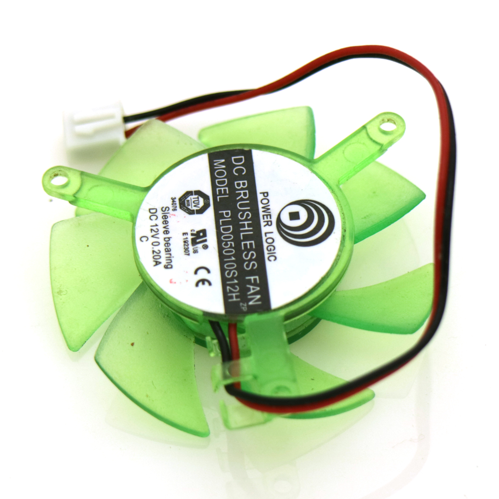 Power Logic PLD05010S12H 12V 0.20A 45mm 2Pin For ASUS 9400 Graphics Card Cooling Fan beko dfs 05010 s