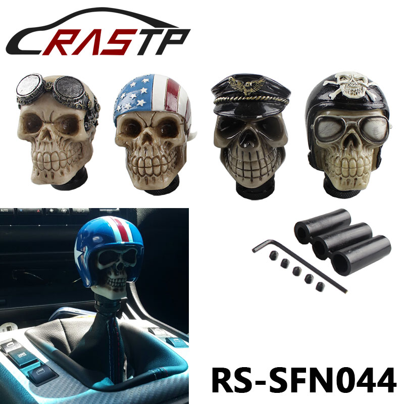 Car Modification Gear Shift Knob Devil Head Knob Modified Resin Knob Soldier Skull With Hat And Glasses RS-SFN044