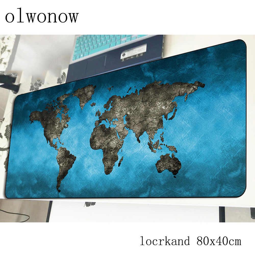 Carte du monde tapis de souris 800x400x3mm coloré tapis de souris de jeu tapis de gamer magnifique jeu ordinateur bureau souris clavier tapis de jeu