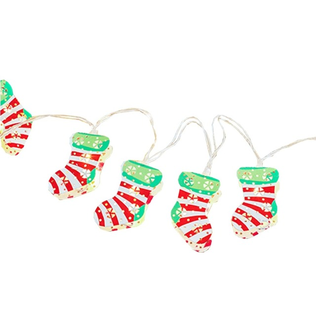 LukLoy Christmas Stocking LED String Lights, Socks Fairy String Lights for  Christmas Decorations Window Garland - LukLoy Christmas Stocking LED String Lights, Socks Fairy String