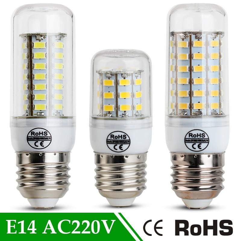 220v E27 LED Lamp High Brightness E14 24 36 48 56 69Leds SMD5730 LED Corn Light Bulb Ampoule led bulbs Indoor Bombillas Lampada