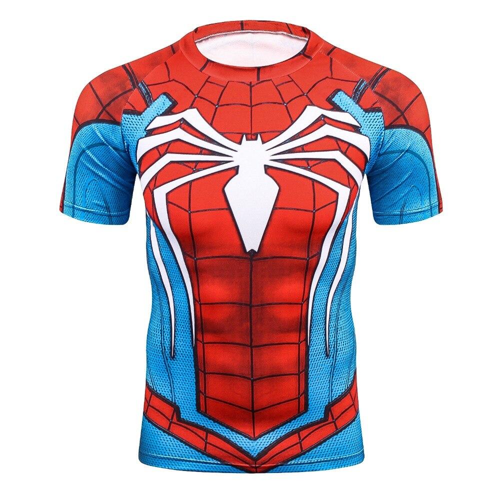 9d5ae8cfb425 Batman Spiderman Venom Ironman Superman Captain America X-man Punisher  Marvel Compression T shirt Avengers