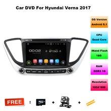 Quad Core 1024×600 Android 5.1 UNID GPS DVD Del Coche Para Hyundai Verna Solaris 2017 Estéreo Reproductor Multimedia con GPS RADIO DVD BT RDS