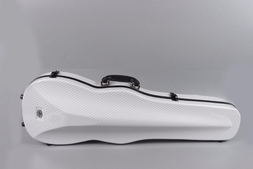 white violin case 4/4 composite material strong violin box bag White Hard Shell yinfente 4 4 violin case composite carbon fiber violin box light strong 1 9kg weight