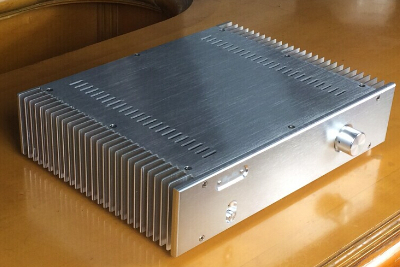 BZ3608A New silver aluminum amplifier chassis power amplifier box/ preamplifier chassis 4308 rounded chassis full aluminum enclosure power amplifier box preamplifier chassis