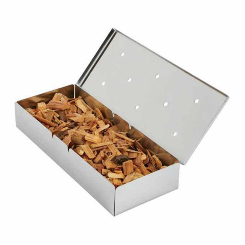 stainless steel smoker box with lid gas grill smoker box wood chip smoker box bbq barbecue. Black Bedroom Furniture Sets. Home Design Ideas