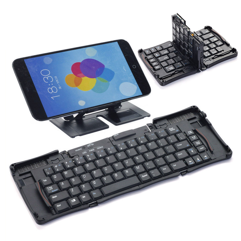 Mini Wireless Bluetooth 3 0 Keyboard Folding Foldable Keyboard for iPhone iPad iPod Touch iOS Android